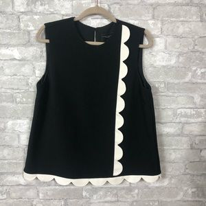 Victoria Beckham} Black and white top size Large